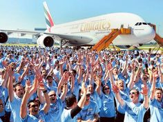 The #Airbus #A380, the flagship of the #Emirates fleet