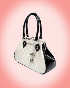 Sin City Motor Kiss Lock Purse in Black with White Sparkle from Lux De Ville/ Love it sissy