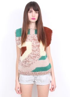 knitspiration | multi color sweater jacquard | abstract design