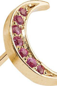 Andrea Fohrman - 14-karat Gold Sapphire Earring - one size