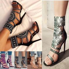 674059b2211e Women s Summer Sexy Ankle Strap High Heel Sandals - Performance   Stage  Wear - Free Shipping. Ankle Strap High HeelsOpen ...