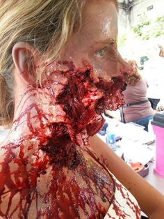 Wow everyone knows I love gory stuff. This is freaking sick:) Zombie special effect makeup by Gregory FX gory gruesome special fx halloween makeup Makeup Fx, Zombie Makeup, Scary Makeup, Makeup Ideas, Makeup Goals, Face Makeup, Zombies, Creepy Halloween Makeup, Halloween Kostüm