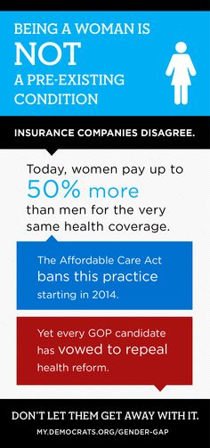 Being a woman is NOT a pre-existing condition!