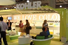 We really loved the Kohler booth; it was probably our favorite booth (and not just because they had a phone charging station!) I think they did a great job