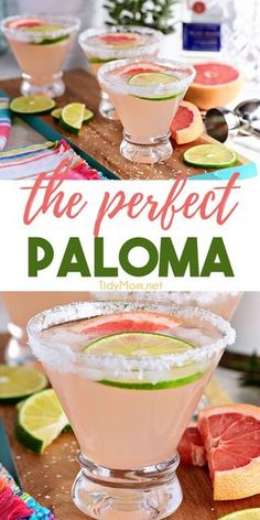 The Perfect Paloma Cocktail is a Mexican favorite. Made with fresh grapefruit juice and silver tequila it's is arguably more refreshing than a margarita. This bright citrus drink is perfect for weekend get-togethers. Print the full recipe at Cocktails Vodka, Refreshing Cocktails, Craft Cocktails, Cocktail Drinks, Cocktail Movie, Cocktail Sauce, Cocktail Attire, Cocktail Tequila, Cocktail Shaker