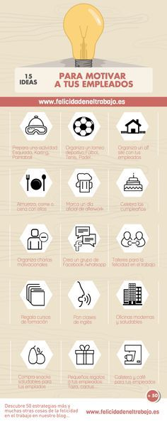 15 ideas para motivar a los trabajadores #infografia #infographic #rrhh