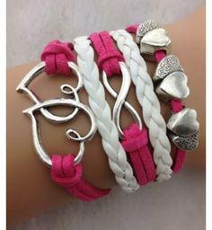 Bracelet Rose Avec Coeur