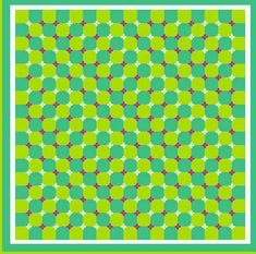 Can you see the waves moving? If not, try to move your head a few times or scroll up/down to see the illusion.
