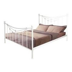 METAL DOUBLE BED IN WHITE COLOR 161x202x122 (160x200)
