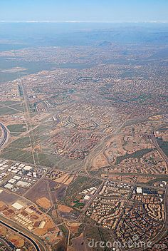 Photo about Aerial View of Phoenix City, Arizona. Image of hills, surface, arizona - 13429653 Aerial View, Airplane View, Phoenix, Grand Canyon, City Photo, Arizona, Surface, My Arts, Nature