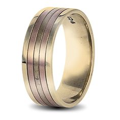 yellow and rose gold mens wedding ring Wedding Men, Wedding Rings, Rings For Men, Bands, Rose Gold, Engagement Rings, Jewels, Yellow, Gallery