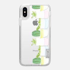 Casetify iPhone X Classic Grip Case - Happy Succulents by Lauren Davis