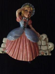 Vintage Nursery Rhyme Little Bo Peep Ceramic Wall Hanging  | eBay
