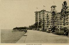 Lakeside at the Edgewater Beach Hotel, Sheridan and Balmoral,1921, Chicago.