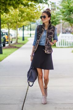 How To Dress Up A Puffer Vest | theglitterguide.com