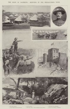 The Siege of Mafeking, Sketches in the Beleaguered Town. Illustration for The Illustrated London News, 7 April Ww1 Art, War Medals, The Siege, Model Tanks, Inner World, History Images, Folk Music, Cold War, Cut Outs