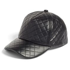 Women s Bp. Quilted Faux Leather Ball Cap ( 25) ❤ liked on Polyvore  featuring d2d3b89d1896