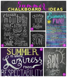 High Quality Summer Chalkboard Design Ideas.... Canu0027t Wait To Decorate My Chalkboard