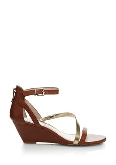... Brown leather and metallics and a wedge.. I need. BCBGeneration Vernna