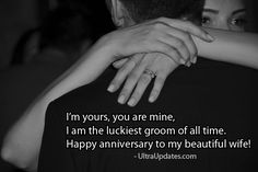 Beautiful wedding anniversary wishes status for wife in English. These romantic lines will make her day more special. Marriage anniversary status for whatsapp fb Happy Wedding Anniversary Wishes, Marriage Anniversary, Fb Status, Beautiful Wife, Romantic, Facebook, Romance Movies, Romantic Things, Romance