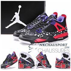 Nike Air Jordan 4 | Classique Chaussure De Basket Homme Noir