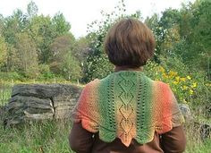 Ravelry: Autumn Leaves Small Triangular Shawl (Baktus) pattern by Elaine Phillips