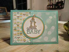 Stampin Up Karte zur Geburt mit Kleine ganz groß