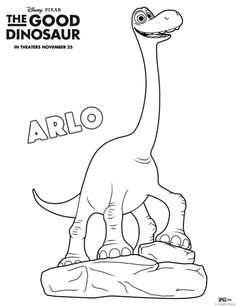 The Good Dinosaur Free Printable and Coloring Sheets | Crafts and Activities #sponsored #GoodDino
