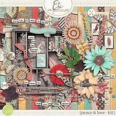 A shabby life documenting Digital Scrapbook Kit with boho/chic detailed papers with an easy seasonal transition color palette. This kit was inspired by recent loss we have felt in our family and finding ways to let peace and love into our hearts.  Included in this product: