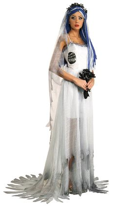 Rubie's Costume Grand Heritage Collection Deluxe Corpse Bride Costume, Blue, Medium