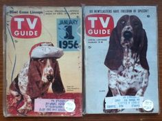 RARE!!! 2 VINTAGE TV GUIDES FROM 1955 & 1957 WITH CLEO OF THE PEOPLE'S CHOICE!