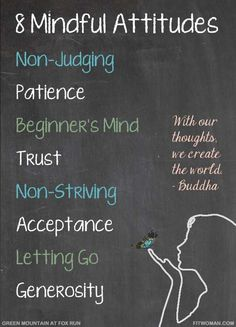 8 types of #mindful attitudes...Read article for #quotes on #mindfullness