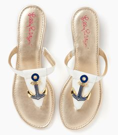 Lilly Pulitzer anchor sandals = perfection.