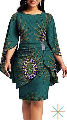 private afripride African Print Dresses for Women Dashiki Dress+Mini Skirt Ankara Aline Clothing Wax Short African Dresses, African Fashion Designers, Latest African Fashion Dresses, African Print Dresses, African Print Clothing, African Print Fashion, African Women Fashion, Modern African Fashion, Modern African Clothing