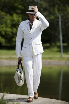 ♂ Man's casual fashion wear Man in white Costume Blanc, Safari Jacket, Mens Fashion Suits, Fashion Wear, Mens Gear, Sharp Dressed Man, Gentleman Style, Military Fashion, Mens Clothing Styles