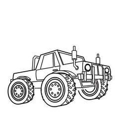 monster truck monster truck razin kane coloring page