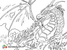 Trace-able coloring page  for Fire breathing Dragon :) https://www.youtube.com/watch?v=3hMPE7Q1Ofc