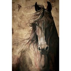 WISDOM, acrylic painting of a horse. 12x18 archival high quality print.