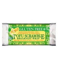 Amy's Gluten Free Tofu Scramble Breakfast Wrap: A thin, crepe-like tortilla is bursting with a tasty mixture of healthy, GMO-free ingredients. It retains crispy edges and won't get soggy in the microwave.