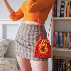 Crochet Tote, Easy Crochet, Crochet Stitches, Knit Crochet, Crochet Clothes, Diy Clothes, Combi Hippie, Knitting Patterns, Crochet Patterns