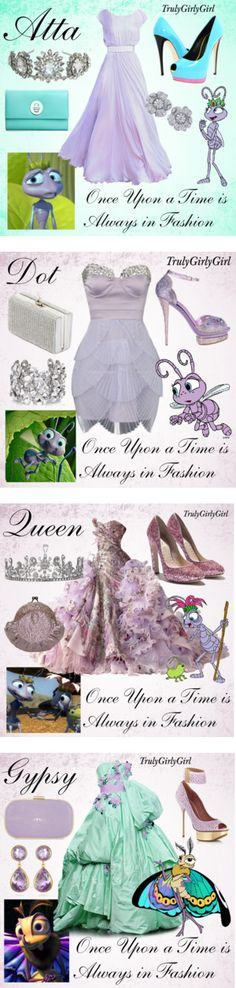 "Just fun to look at []""Disney Style: A Bugs Life"" by trulygirlygirl[] Disney Themed Outfits, Disney Bound Outfits, Princess Outfits, Disney Dresses, Prom Dresses, Disney Clothes, Disney Princess, Estilo Disney, Pretty Dresses"