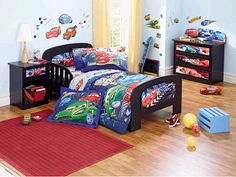 ideas to decorate a boys bedroom with cars | Disney Kids Bedroom ...