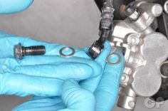 Sealing cursh washers on the front brake hose of the ninja 250