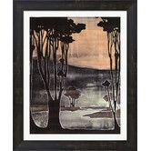 Found it at Wayfair - Small Nouveau Trees II by Jennifer Goldberger Framed Painting Print