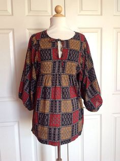 Anthropologie SUNNER Pinochle Blouse Cotton Top Peasant Boho Tunic Size M #Anthropologie #Blouse #Casual