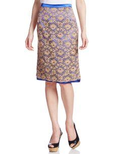 Amazon: (ルヴィオネ)revionnet 配色レーススカート