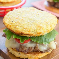 Cauliflower bread buns are low carb and gluten free. They are perfect to use with hamburgers, sandwiches and more. And unlike other cauliflower bread substitutes, you don't need to wring dry the cauliflower! I'm really excited to share this recipe with yo Gluten Free Recipes, Low Carb Recipes, Diet Recipes, Cooking Recipes, Healthy Recipes, Recipies, Burger Recipes, Cauliflower Crust, Cauliflower Recipes