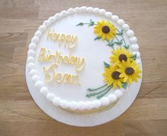 birthday cakes with sunflowers | Found on brendahealthydinnerrecipes.blogspot.com