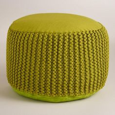 One of my favorite discoveries at WorldMarket.com: Green Indoor - Outdoor Pouf