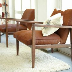 Retro Brown Hide Chair
